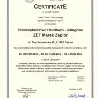 Integrated Management System Certyficate ISO
